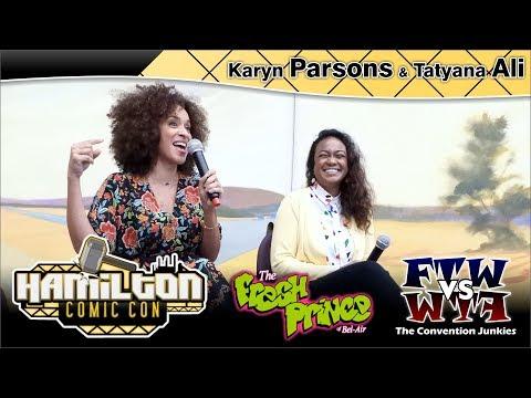 Karyn Parsons & Tatyana Ali (Fresh Prince) Hamilton Comic Con 2017 Full Panel