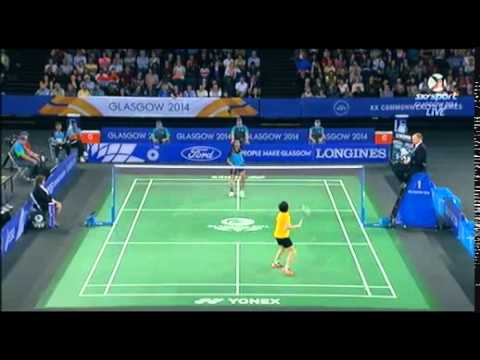 WS bronze - P.V. Sindhu [ind]vs[mas] Tee Jing Yi - 2014 Commonwealth Games badminton