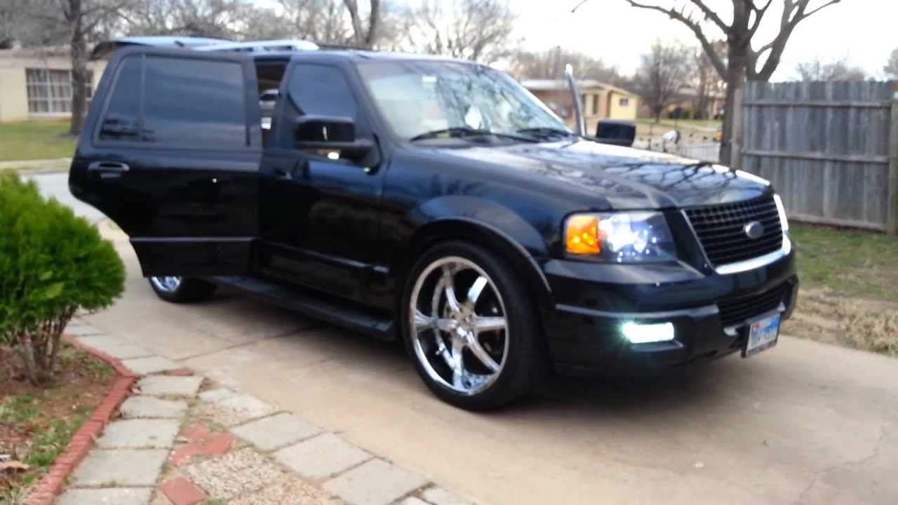 2003 Ford Expedition Eddie Bauer >> ford expedition on 24s and screens part 2 - YouTube