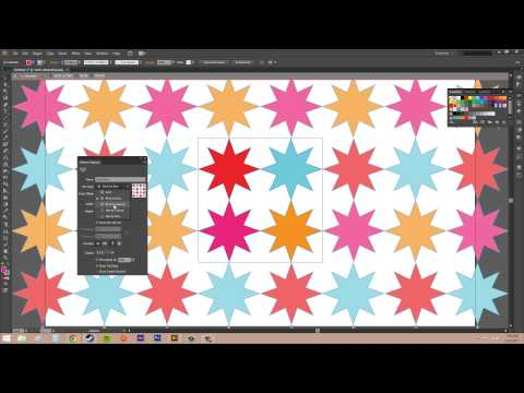 Adobe Illustrator CS6 for Beginners - Tutorial 45 - Creating Patterns from Simple Objects