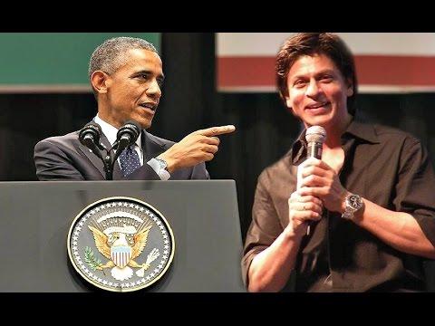 Barack Obama Speech In India 2015 - Shahrukh Khan Funny Respond