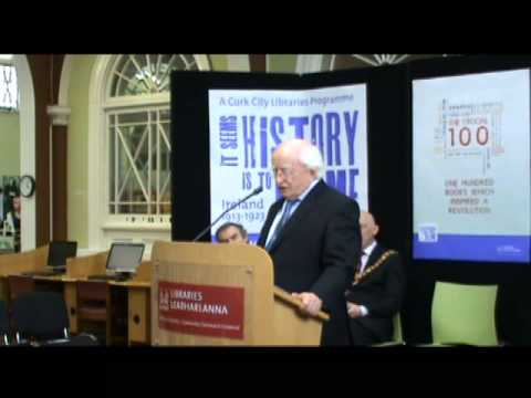 Visit of President Michael D Higgins to Cork City Library on 4 May 2013