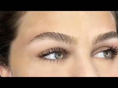 PERFECT BROW - HAIR STROKE TECHNIQUE - YouTube