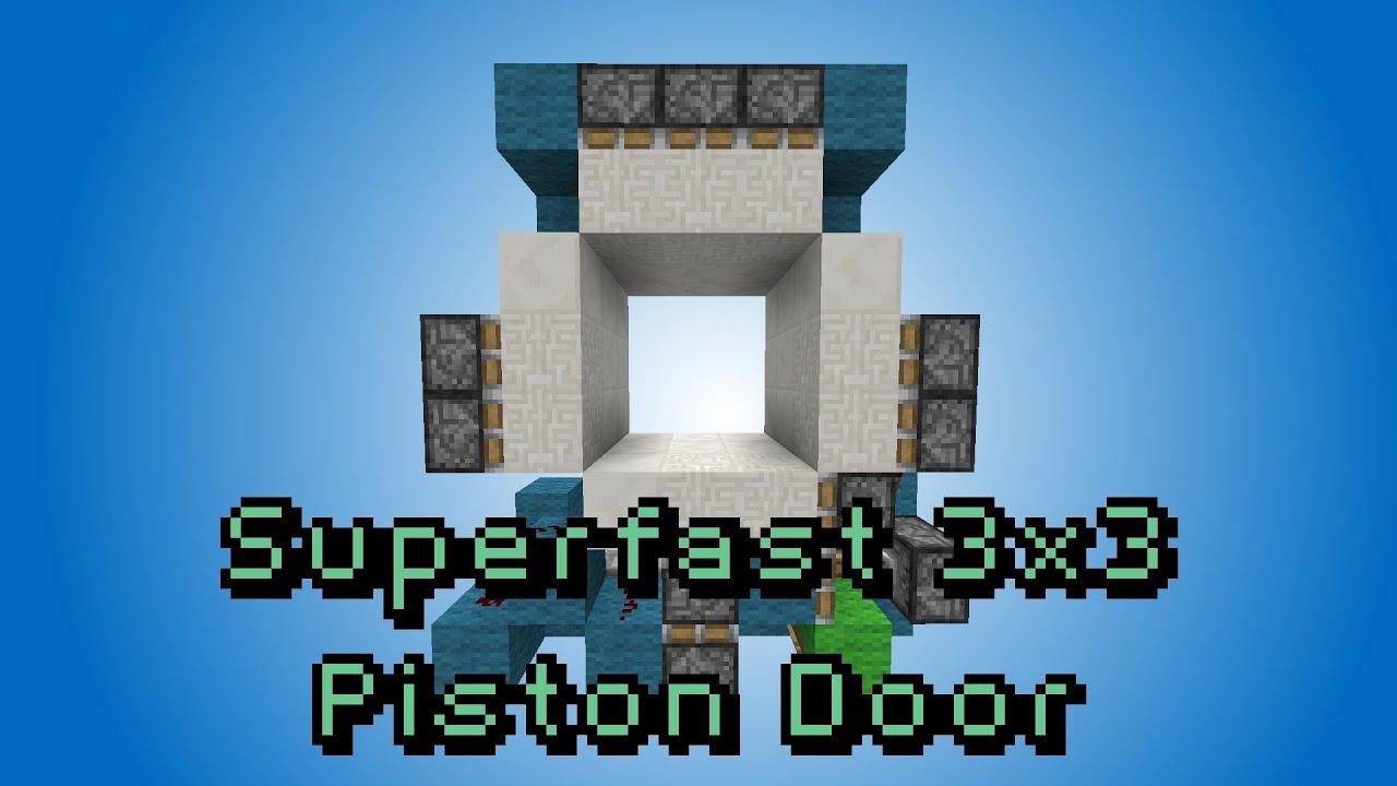Minecraft Piston Door 3x3 Minecraft Fast 3x3 Piston
