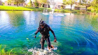 Treasure Hunting In Subdivision POND! (Interesting Finds!!) | Jiggin' With Jordan