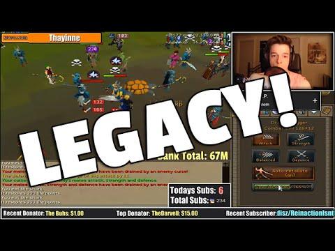 Runescape: Legacy Mode QBD + Pk'ing Freakout!