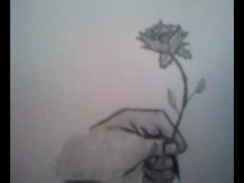 Hand Holding Rose Drawing How to Draw a Hand Holding a
