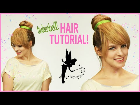 Easy Tinker Bell Halloween Hair Tutorial With Kayley Melissa!
