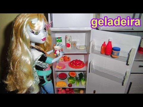 Como fazer uma geladeira para boneca Monster High. Pullip. Barbie e etc