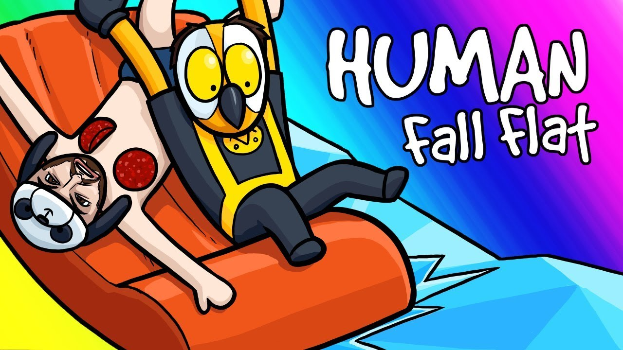 Human Fall Flat Funny Moments - Boat Rides and Panda's Horror Face!