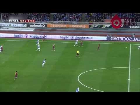 Real Sociedad Vs FC Barcelona 1-1 | First Half | Copa Del Rey | Full Match HD - 12.02.2014