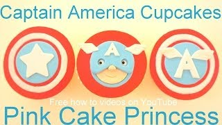 Captain America Cupcakes - How to Make Captain America Cupcake Face