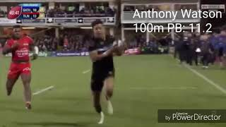 Rugby Players 100m times