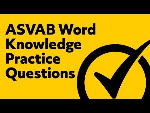 Quickest ASVAB Word Knowledge Help!