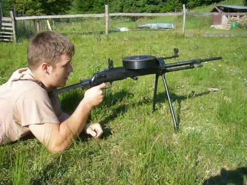 Blank firing Soviet DT27 Machine gun - full auto
