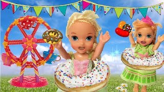 Anna and Elsia Toddlers go to the Fair🎇 Elsya and Annya have funny dream or is it real? Toys & Dolls