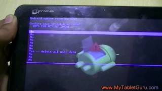 Micromax Funbook Tablet P255 hard reset/factory wipe method