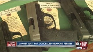 Longer wait for concealed weapons permit appointments in Tampa Bay