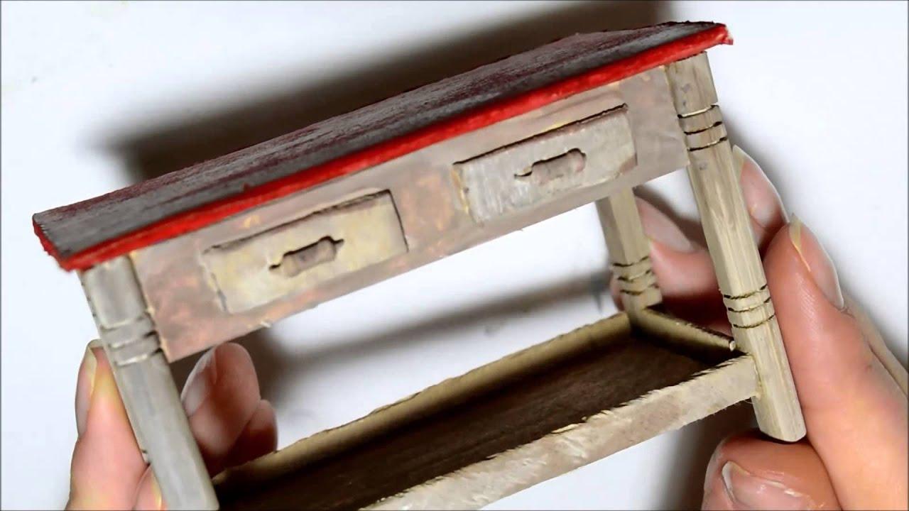 Мебель из картона миниатюрная своими руками 70