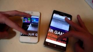 Lenovo A536 vs iPhone 4S (HD)