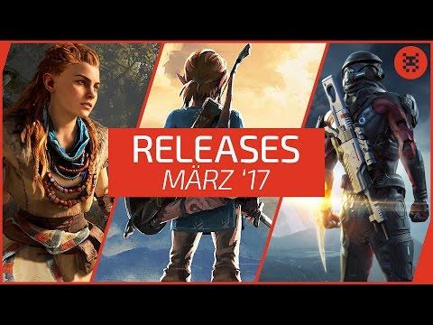 Neue SPIELE im März 2017 - RELEASES für PC, PS4, Xbox One, Nintendo Switch & 3DS │Frisch aufgetischt