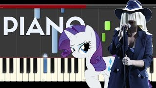 Sia Rainbow My Little  Pony Movie Piano Midi tutorial Sheet app Cover Karaoke