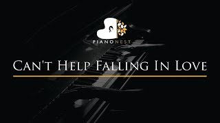 Can 39 T Help Falling In Love Piano Karaoke Sing Along