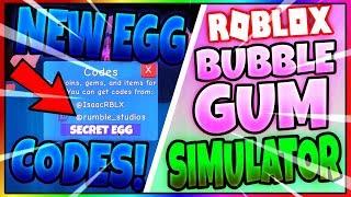 NEW EGG! (CODES) Bubble Gum Simulator - Roblox Update