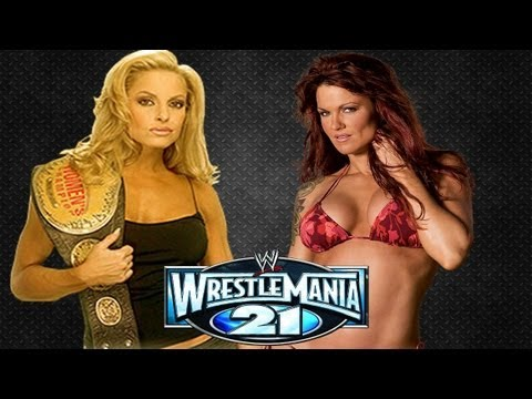 Trish Stratus Vs. Lita | Bra And Panty | Wrestlemania 21 | Thexardas94 video