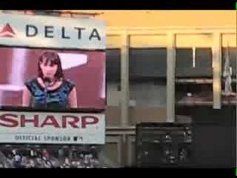 Natalie Weiss - National Anthem at Shea Stadium