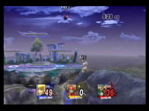 Sheik (PREZ) vs Samus (Ari) vs Zero Suit Samus (Lite) Super Smash Bros Brawl