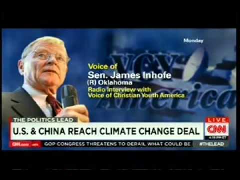 CNN: Jake Tapper Vs. Senator Inhofe on climate change.