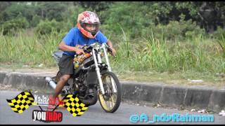 Ramenya!! setingan Kawasaki ninja drag bike Yogyakarta Racing indonesia
