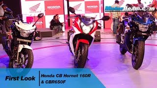 Honda CB Hornet 160R & CBR650F First Look | MotorBeam