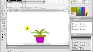 Create Flash Cartoon Flower Animation Bangla Tutorial