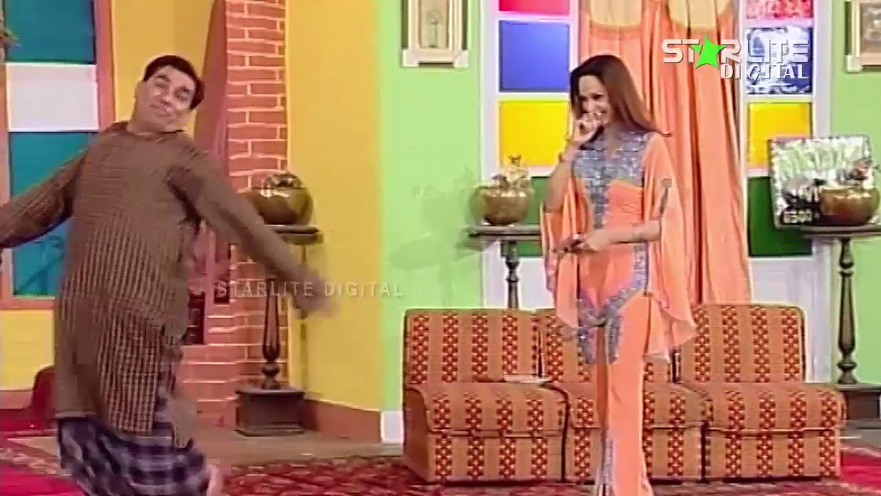 Zafri Khan, Nasir Chinyoti and Nargis New Pakistani Stage Drama Full Comedy Funny Clip