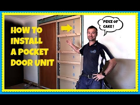 How To Install A Pocket Door In An Existing Wall - Cavity Slider