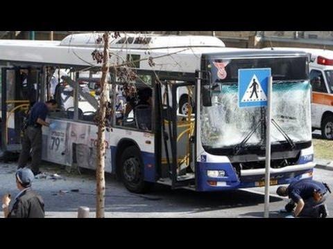 Bomb blast on bus in Tel Aviv, Israel