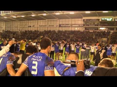 Samoa & Fiji Pray Post Game