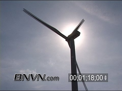 4/27/2007 Electric Wind Mill Farm Video. Wind Farm Footage