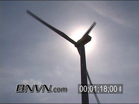 4/27/2007 Electric Wind Mill Farm Video. Wind Farm Footage