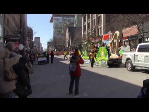 Opening of the 2016 Montreal St. Patrick's Day Parade