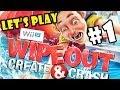 Jouons Wipeout: Créer et Crash pt.1 - Deuxième Helpings - 4 Player WiiU Co-Op
