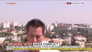 Israel Air Raid Siren Sounds During Sky Broadcast