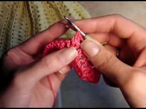 6  Как связать панамку для девочки, донышко, 5 ряд