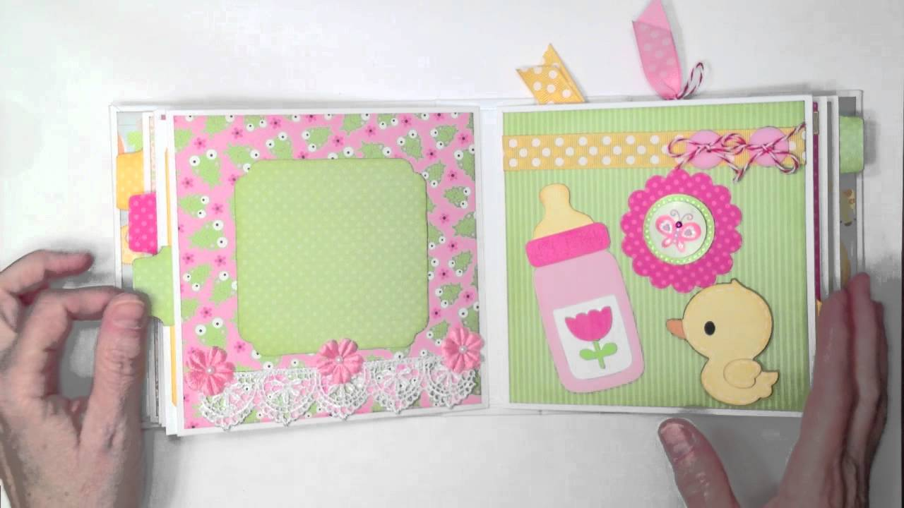 Doodlebug Baby Girl Mini Album - YouTube
