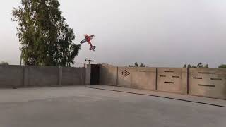 RC plane flying on roof
