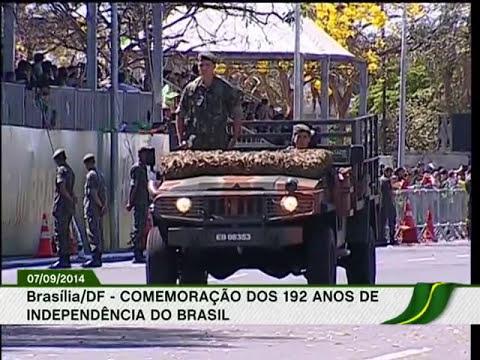 Desfile de 7 de setembro comemora 192 anos de Independência do país