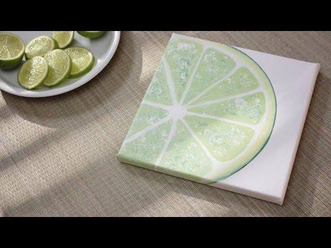 How To Paint a Lime - DIY 1/3 Fruit Painting Series