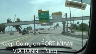 How to drive to the PORT MIAMI if you are sailing on a cruise?